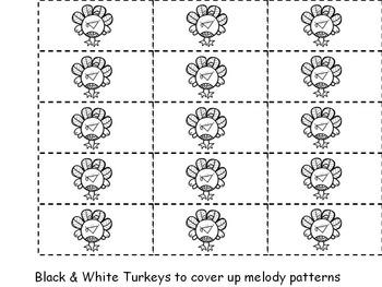 Turkey Time {Sixteenth Notes - Tika Tika}  {Music: Rhythm Concept Game}