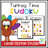 Turkey Time Sudoku Puzzles- Colorful- 3 Levels