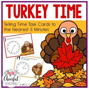 Turkey Time Task Cards