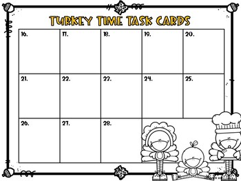 Turkey Time Task Cards {Thanksgiving Themed LA Review Task Cards}