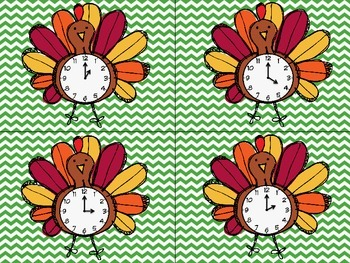 Turkey Time {Telling Time Matching}