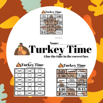 Turkey Time - Telling Time and Measuring Time Intervals