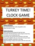 Turkey Time! Thanksgiving Clocks Game / Telling Time