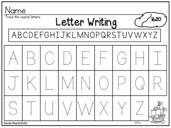 Turkey Time! Thanksgiving ELA and Math Worksheets for Kindergarten