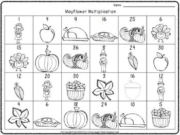 Turkey Time! Thanksgiving Math Centers: Multiply, Round, Problem Solving, Arrays