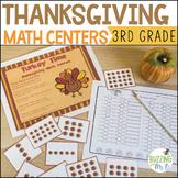Thanksgiving Math Centers for Multiplying, Rounding, Problem Solving, Arrays