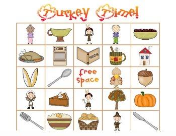 Turkey Time! {Thanksgiving bingo game}
