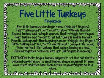 Turkey Time - Themeatic Unit for Preschool