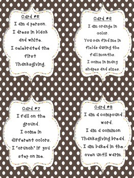 Turkey Time Trivia: a Thanksgiving printable drawing conclusions/inference game