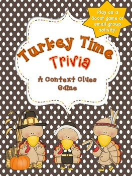 Turkey Time Trivia: a Thanksgiving printable drawing concl
