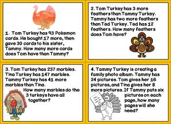 Turkey Time! Word Problems