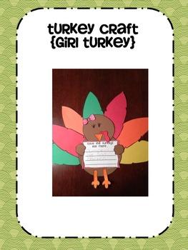Turkey Time craftivity Unit
