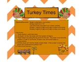 Turkey Times- Common Core Leveled Multiplication Game