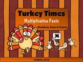 Turkey Times - Multiplication Facts Thanksgiving Worksheets, Centers & Games