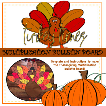Turkey Times (Thanksgiving Multiplication Bulletin Board)