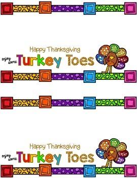Turkey Toes Thanksgiving Treat