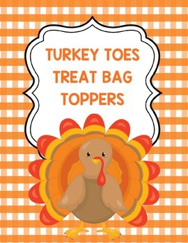 Turkey Toes Treat Bag Toppers