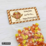 Turkey Toes Treat Bag Toppers, Thanksgiving Classroom Part