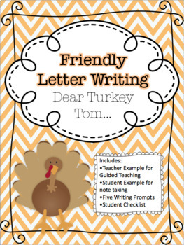 Thanksgiving - Turkey Tom Friendly Writing