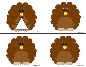 Turkey Tom's Shape Matching Cards
