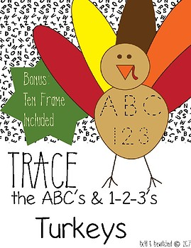 Turkey Trace ABC 123 and Ten Frame