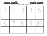 Turkey Trace and Write Numbers 1-20 Precious Preschoolers