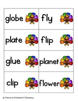 Turkey Tracking Phonics: L-Blends Pack