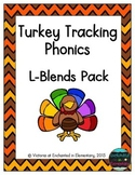 Turkey Tracking Phonics: L-Blends Pack