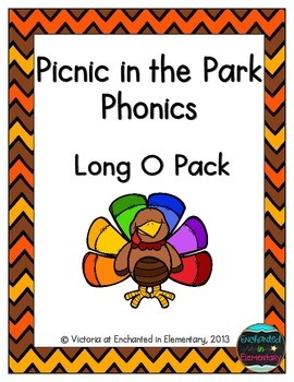 Turkey Tracking Phonics: Long O Pack