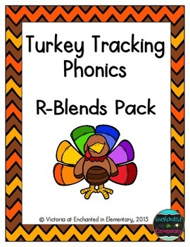 Turkey Tracking Phonics: R-Blends Pack