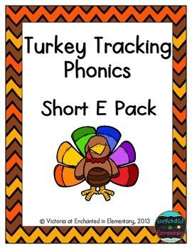 Turkey Tracking Phonics: Short E Pack