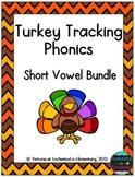 Turkey Tracking Phonics: Short Vowel Bundle