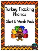 Turkey Tracking Phonics: Silent E Words Pack