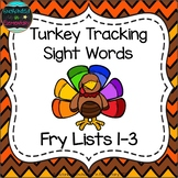 Turkey Tracking Sight Words! Bundle of Fry Lists 1-3