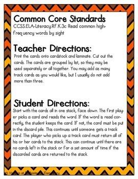 Turkey Tracking Sight Words! First Grade List
