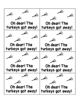 Turkey Tracking Sight Words! Pre-Primer List Pack