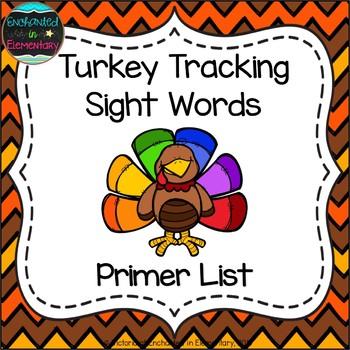 Turkey Tracking Sight Words! Primer List Pack