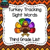 Turkey Tracking Sight Words! Third Grade List Pack