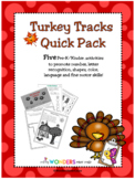 Turkey Tracks Pack - Thanksgiving (Preschool, Pre-K, Kindergarten)
