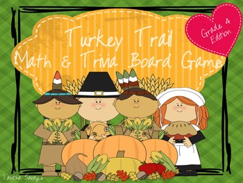 Turkey Trail- A Math and Thanksgiving Trivia Board Game Gr. 4