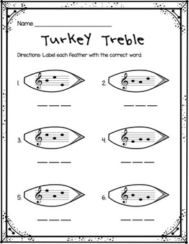 Turkey Treble: Identifying 3-Letter Words in the Treble Clef Staff