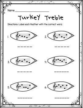 Turkey Treble: Identifying 5- and 6-Letter Words in the Treble Clef Staff