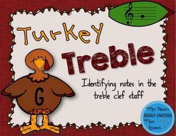 Turkey Treble: Identifying the Notes of the Treble Clef Staff