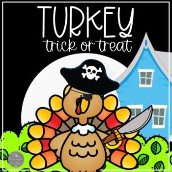 Turkey Trick or Treat OCTOBER/HALLOWEEN/POCKET CHART/CENTERS/PRINTABLES