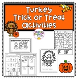 Turkey Trick or Treat Book (Wendi Silvano) & Halloween Activities