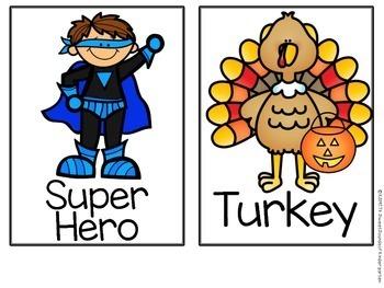 Turkey Trick or Treat-  Literacy Activities
