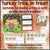 Turkey Trick or Treat! {activities for reading, writing, & math}