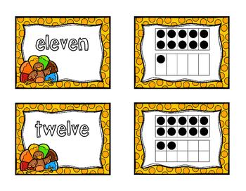 Turkey Tricky Teen Ten Frame Matching Game
