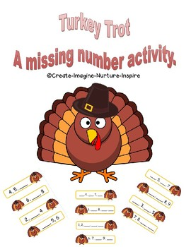 Turkey Trot - A missing number activity