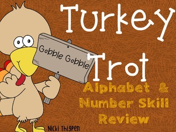 Turkey Trot--Alphabet & Number Review